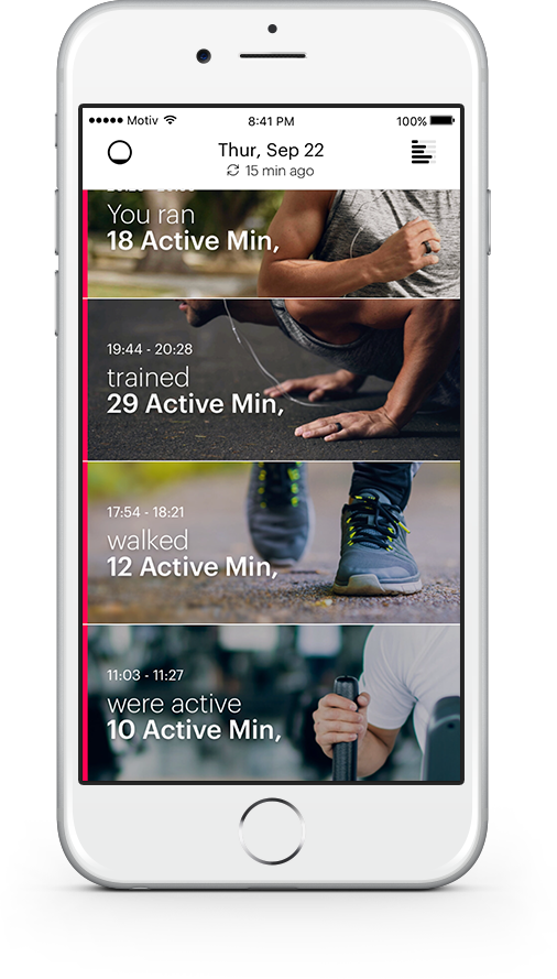 A lot of fitness trackers are all about tracking steps; the Motiv App tracks fitness. For proven benefits like preventing heart disease and stroke and improving overall cardiovascular health, science says you need to get your heart rate up - not just count your steps to the fridge.