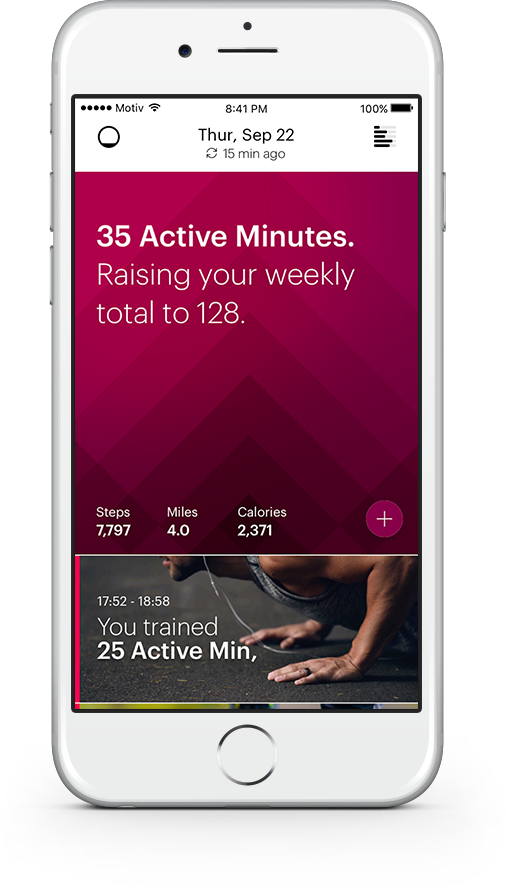 We help you stay motivated everyday by focusing on a weekly Active Minutes goal. The American Heart Association recommends 150 active minutes per week. We automatically adjust your daily targets based on your progress towards your weekly goal - kind of like rollover minutes.