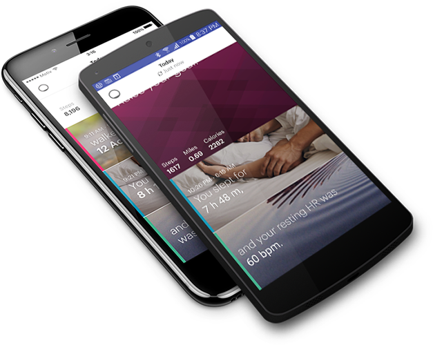 Motiv application on Android Nexus phone